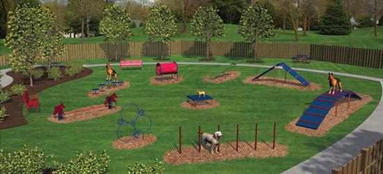 Bark park equipment dog parks new england recreation for Aquatic sport center jardin balbuena